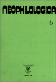 Neophilologica. Tom. 6: Studia językoznawcze