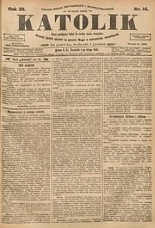 Katolik, 1906, R. 39, nr14