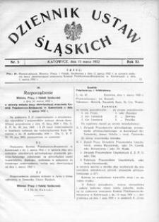 Dziennik Ustaw Śląskich, 15.03.1932, R. 11, nr 5