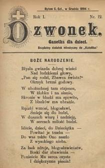 Dzwonek, 1894, R. 1, nr12