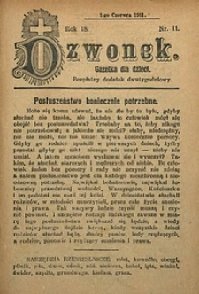 Dzwonek, 1911, R. 18, nr11