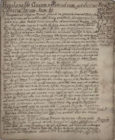 Zbiór kazań, przeważnie jezuickich, wygłaszanych w róznych miejscowościach Śląska Cieszyńskiego w latach 1711-1788