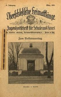 Oberschlesische Heimatklänge, 1931, Jg. 7, März