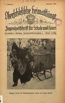 Oberschlesische Heimatklänge, 1931, Jg. 7, Dezember