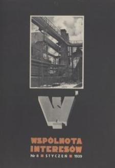 WI : wydawnictwo Wspólnoty Interesów Górniczo-Hutniczych. 1939, nr 8