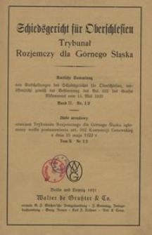 Trybunał Rozjemczy dla Górnego Śląska. T. 2, nr 1/2-3/4