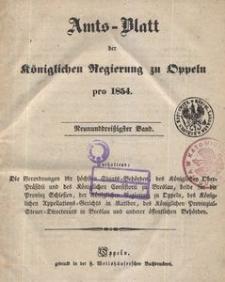 Amts-Blatt der Königlichen Regierung zu Oppeln pro 1854, 39 Bd.