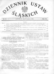 Dziennik Ustaw Śląskich, 30.06.1933, R. 12, nr 17