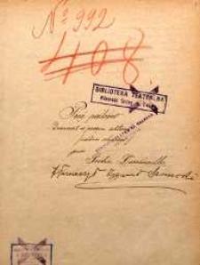 Pięć palców. Dramat w pięciu aktach (siedm obrazów) przez Piotra Decourcelle tłumaczył Zygmunt Sarnecki