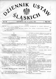 Dziennik Ustaw Śląskich, 15.12.1933, R. 12, nr 28