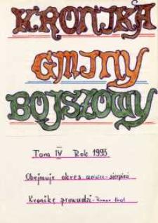 Kronika gminy Bojszowy. Tom IV. Rok 1993. Obejmuje okres czerwiec - sierpień
