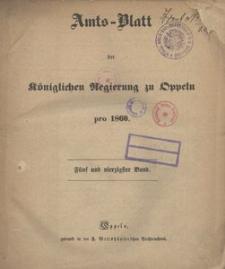 Amts-Blatt der Königlichen Regierung zu Oppeln pro 1860, 45 Bd.