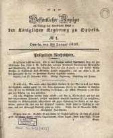 Oeffentlicher Anzeiger als Beilage des Amts-Blatt der Königlichen Regierung zu Oppeln. 1837