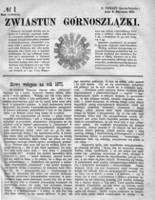 Zwiastun Górnoszlązki, 1871, R. 4, nr 1