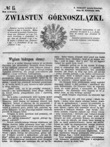 Zwiastun Górnoszlązki, 1871, R. 4, nr 15