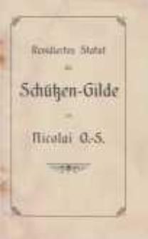 Revidiertes Statut der Schützen-Gilde zu Nicolai O.-S.