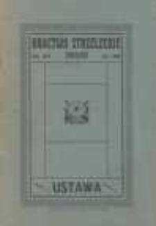 Bractwo Strzeleckie Mikołów zał. 1864. Ustawa
