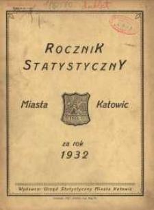 Rocznik Statystyczny Miasta Katowic za rok 1932
