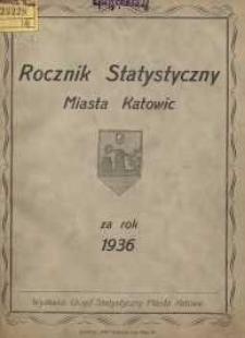 Rocznik Statystyczny Miasta Katowic za rok 1936