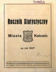 Rocznik Statystyczny Miasta Katowic za rok 1927
