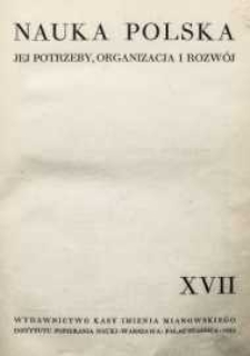 Nauka Polska, 1933, R. 17