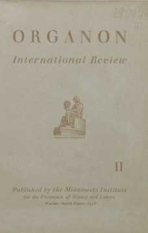Organon. International review, 1938