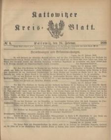Kattowitzer Kreisblatt. 1888, nr 8