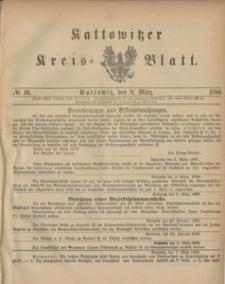 Kattowitzer Kreis-Blatt, 1888, No. 10