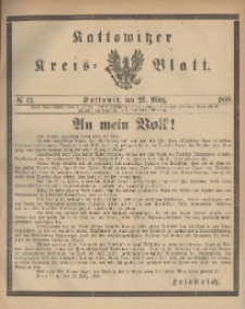 Kattowitzer Kreisblatt. 1888, nr 12
