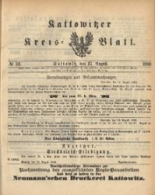 Kattowitzer Kreisblatt. 1888, nr 33