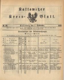 Kattowitzer Kreisblatt. 1888, nr 36