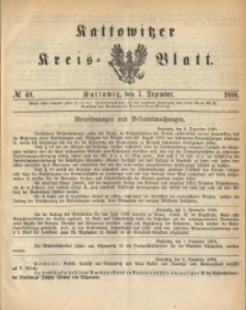Kattowitzer Kreisblatt. 1888, nr 49