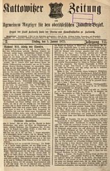 Kattowitzer Zeitung, 1875, Jg. 7, nr2