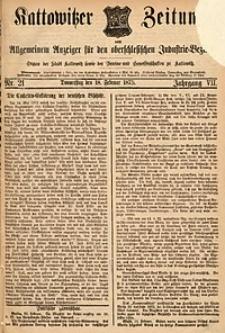 Kattowitzer Zeitung, 1875, Jg. 7, nr21
