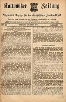 Kattowitzer Zeitung, 1875, Jg. 7, nr23