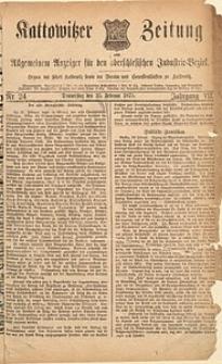 Kattowitzer Zeitung, 1875, Jg. 7, nr24