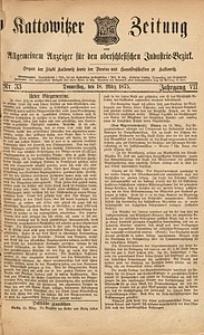 Kattowitzer Zeitung, 1875, Jg. 7, nr33