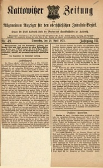 Kattowitzer Zeitung, 1875, Jg. 7, nr49