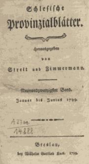 Schlesische Provinzialblätter, 1799, 29. Bd., 1. St.: Januar