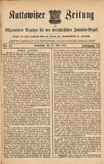 Kattowitzer Zeitung, 1875, Jg. 7, nr61