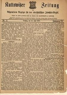 Kattowitzer Zeitung, 1875, Jg. 7, nr71
