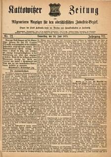 Kattowitzer Zeitung, 1875, Jg. 7, nr72