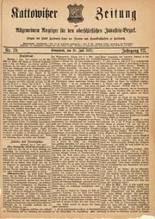Kattowitzer Zeitung, 1875, Jg. 7, Nr.79