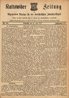 Kattowitzer Zeitung, 1875, Jg. 7, Nr. 84
