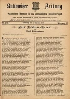 Kattowitzer Zeitung, 1875, Jg. 7, nr102