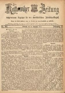 Kattowitzer Zeitung, 1877, Jg. 9, nr267