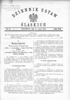 Dziennik Ustaw Śląskich, 31.03.1934, R. 13, nr 9