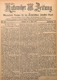 Kattowitzer Zeitung, 1880, Jg. 12, nr87
