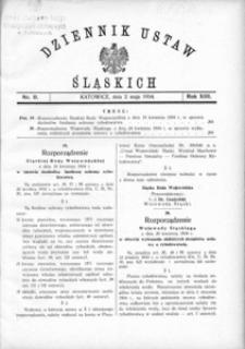 Dziennik Ustaw Śląskich, 02.05.1934, R. 13, nr 11