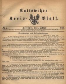 Kattowitzer Kreisblatt. 1886, nr 5
